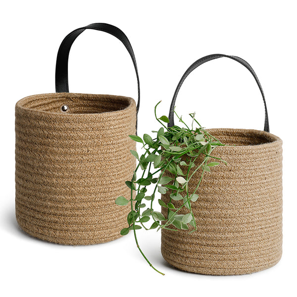 2 Packs Brown Hanging Baskets