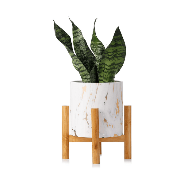 Marble Ceramic Planter with Stand