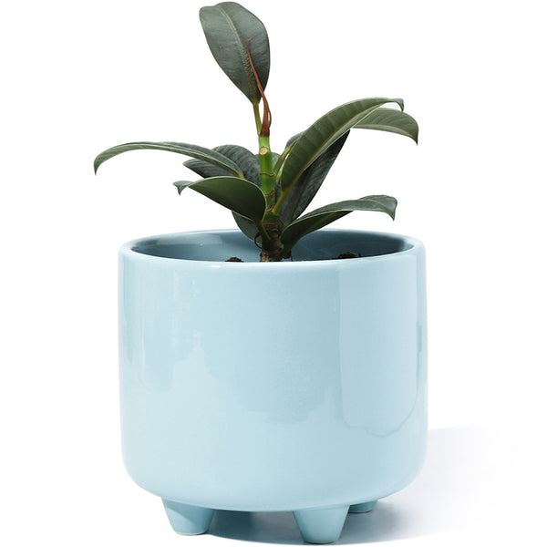 5.3 Inch Blue Glazed Ceramic Pot