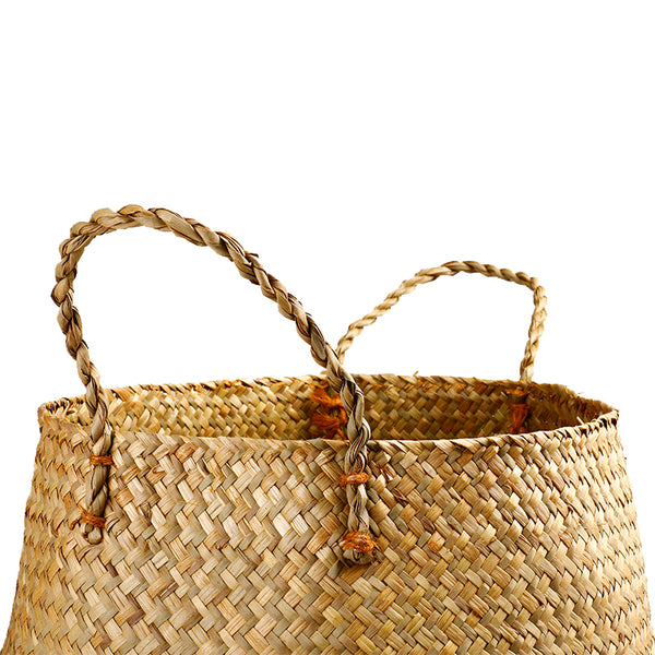 Brown Seagrass Plant Basket