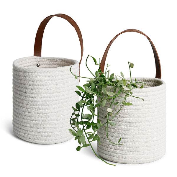 2 Packs White Hanging Baskets