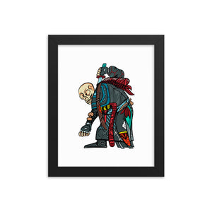 Junkyard Skeleton Framed poster
