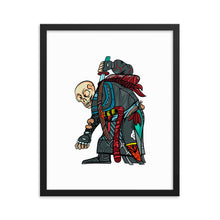 Load image into Gallery viewer, Junkyard Skeleton Framed poster