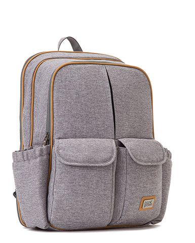 Windsor Grey RucPOD ® - Baby Travel Changing Bag, which opens into a comfortable cot or crib