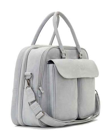 Vegan Leather POD - Whisper Grey - Baby Travel Changing Bag