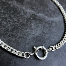 Load image into Gallery viewer, Silver Curb Chain Choker