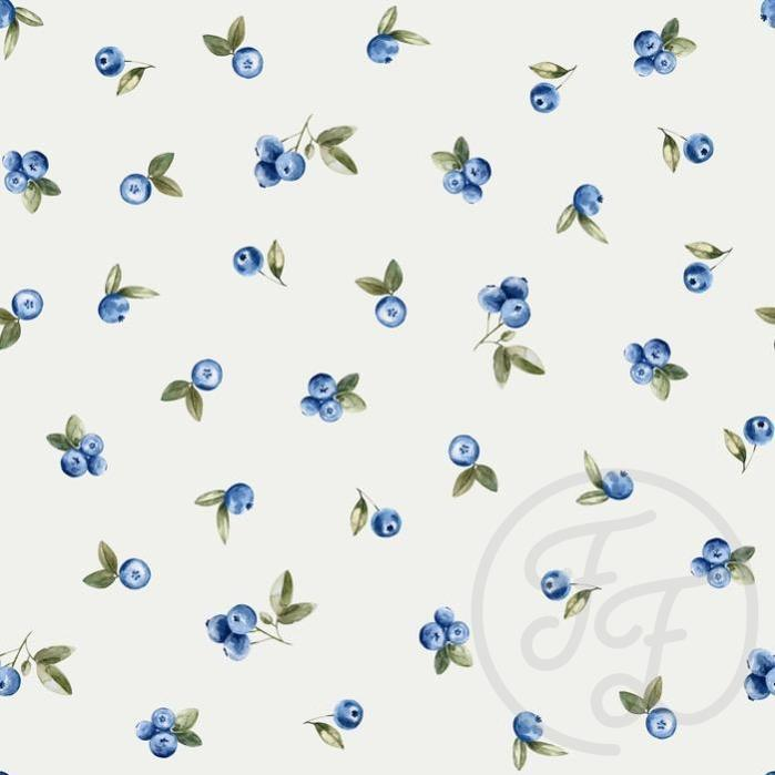 Blueberries Jersey-Family Fabrics