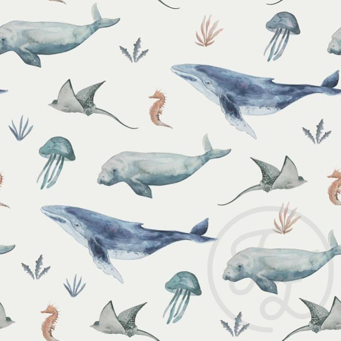 Deep Sea Life Jersey-Family Fabrics