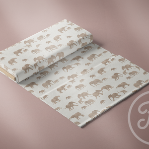 Elephants-Family Fabrics