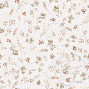 Romantic Dried Flowers Jersey-Family Fabrics