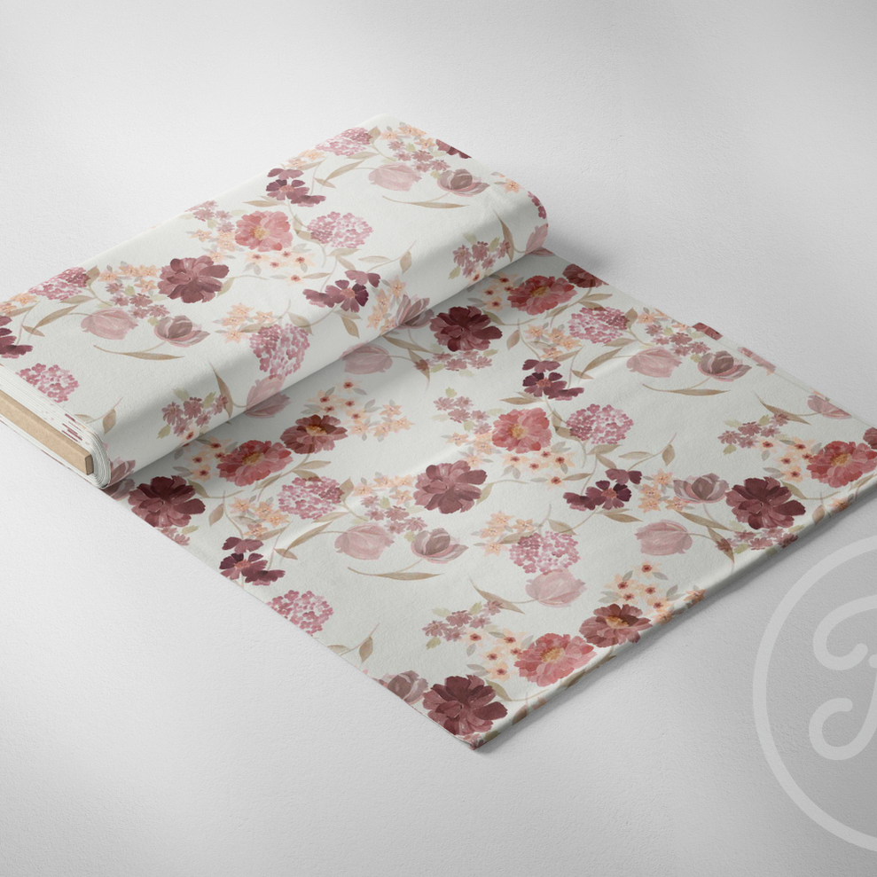 Vintage Floral Jersey-Family Fabrics