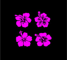 Load image into Gallery viewer, Hibiscus Flower Decals Custom Vinyl Car Truck Window Laptop stickers set of 4