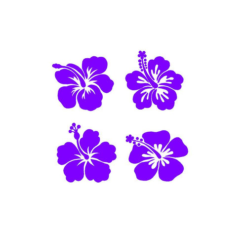 hibiscus flower decals car truck window laptop craft project decals