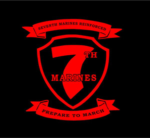 7th marines reinforced decal