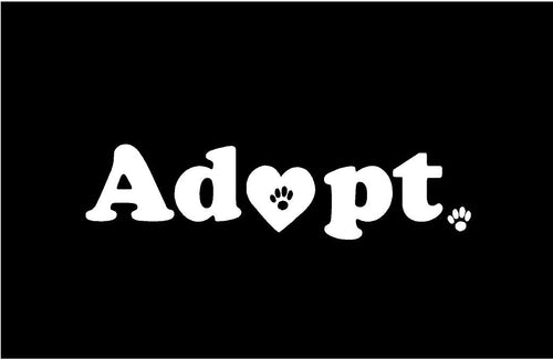 Adopt dog animal decal car truck window sticker