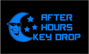 auto shop after hours key drop decal
