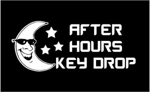 business after hours key drop decal window sticker