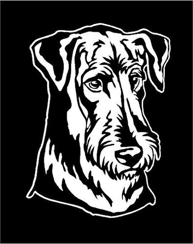 airdale dog decal airdale dog breed car truck window sticker