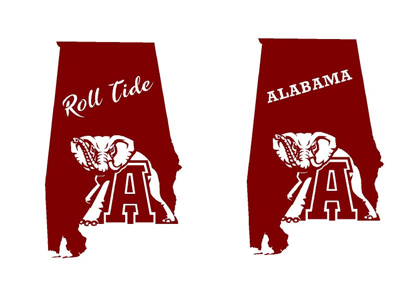 Alabama state pride decal car truck window sticker