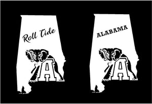 alabama state car decal