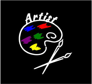 artist palette decal car truck window sticker