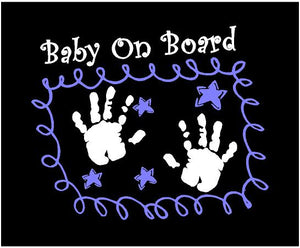 baby on board decal car truck window sticker