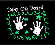 Load image into Gallery viewer, baby on board car window decal