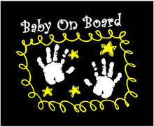 Load image into Gallery viewer, baby on board car window sticker