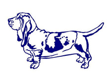 Load image into Gallery viewer, basset hound lover dog decal