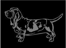 Load image into Gallery viewer, basset hound dog car window decal