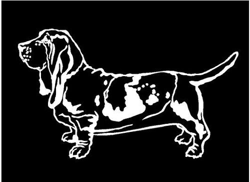 basset hound decal car truck window dog sticker