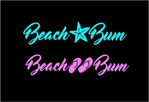 beach bum decal car truck window beach lovers sticker