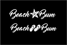 Load image into Gallery viewer, beach bum car window decal
