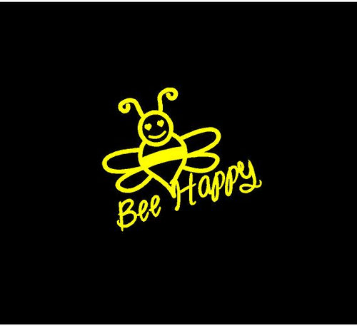 bee happy decal car truck window bumble bee sticker