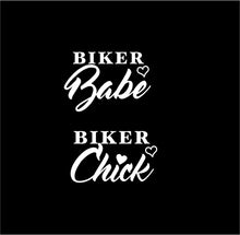 Load image into Gallery viewer, biker babe car decal biker chick car decal