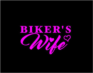 bikers wife car window decal