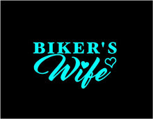Load image into Gallery viewer, bikers wife decal car truck window sticker