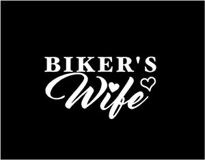 bikers wife car decal