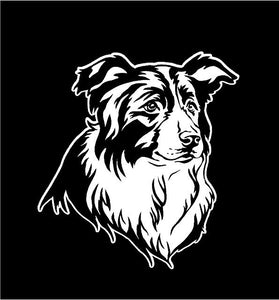 border collie decal car truck window dog sticker