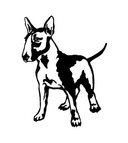 bull terrier dog decal