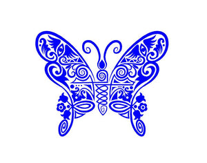Intricate Butterfly Decal Custom Vinyl car truck window sticker