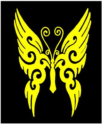 butterfly decal car truck window laptop tattoo sticker