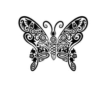 Load image into Gallery viewer, Intricate Butterfly Decal Custom Vinyl car truck window sticker