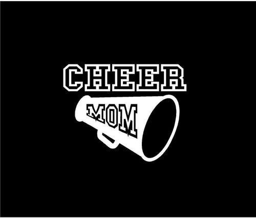 cheer mom decal car truck window bullhorn sticker