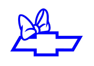 chevy bow tie truck decal for girls