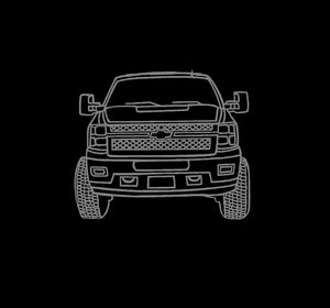 Chevy Truck line art decal