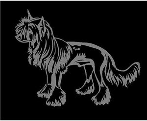 chinese crested dog car window decal