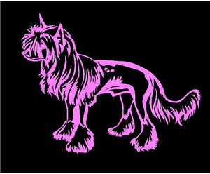 chinese crested dog breed decal