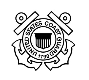 coast guard car decal