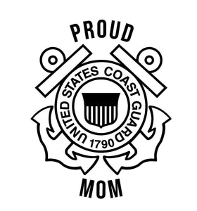 coast guard proud mom decal